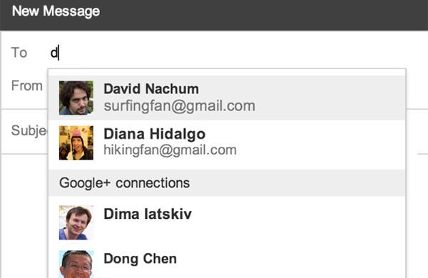 Da oggi è possibile inviare messaggi ai contatti di Google+ direttamente dalla casella di posta Gmail