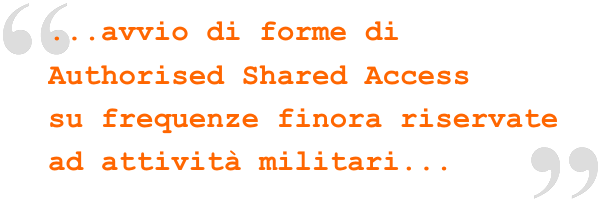 Avvio di forme di authorised shared access