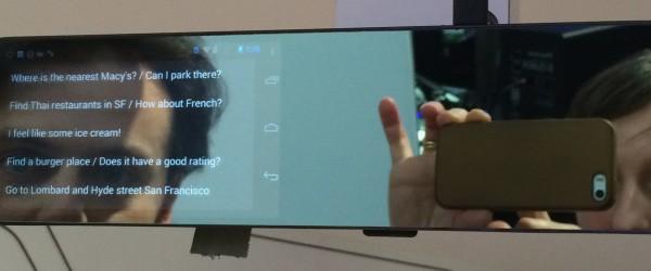 Drive Agent Mirror, lo specchietto retrovisore con Android presentato al CES 2014 da Pioneer e Robin Labs