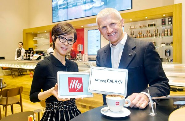Younghee Lee e Andrea Illy