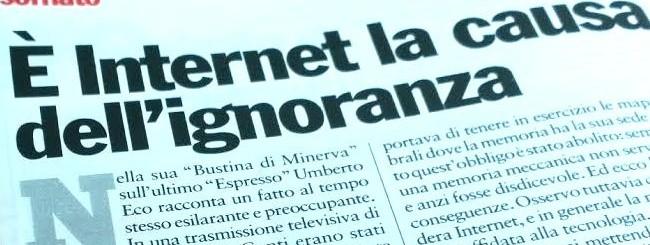 Internet è la causa dell'ignoranza