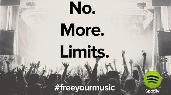 Spotify: No More Limits, la piattaforma per lo streaming musicale elimina qualsiasi limitazione per l'ascolto gratuito sul Web