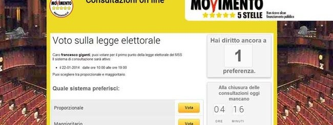 voto M5S