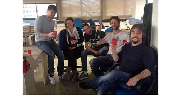 Il team di Parcheggiami.it. La startup è stata fondata lo scorso 12 febbraio.