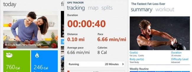 Bing Health & Fitness per WP8