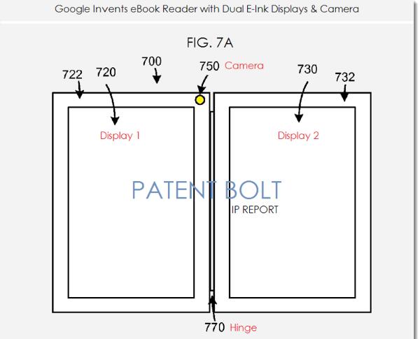 Brevetto Google per un dispositivo a forma di libro