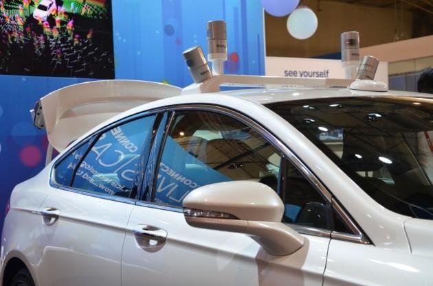 La Ford Focus Hybrid automatizzata in mostra al Mobile World Congress di Barcellona.
