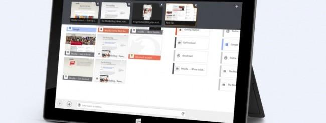 Firefox per Windows 8 Touch