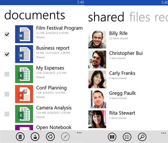 OneDrive arriva su Windows Phone 8