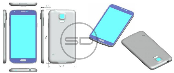 Samsung Galaxy S5, il possibile design