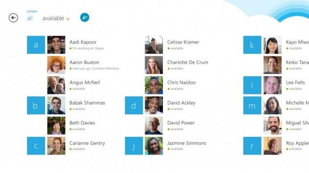 La nuova opzione per l'aggiunta dei contatti in Skype 2.5 per Windows 8.1.