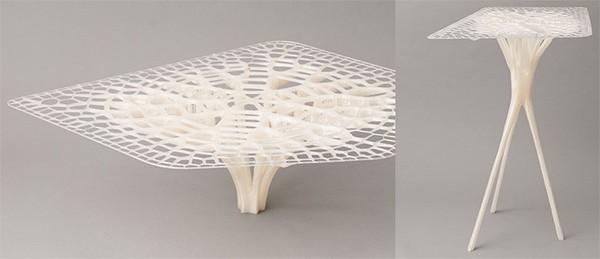 Un tavolino realizzato con la stampante 3D BigRep ONE