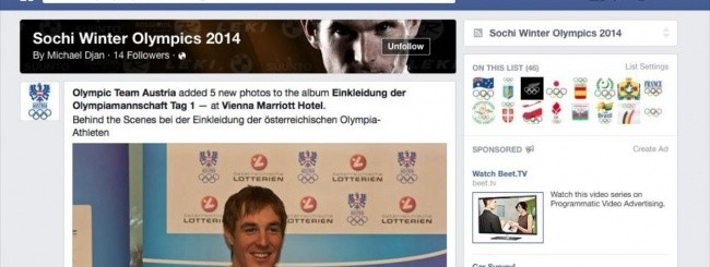 FACEBOOK SOCHI 2014 INTEREST LIST