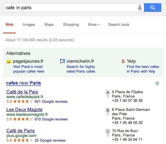 Ricerca localizzata su Google dopo l'accordo con l'antitrust UE
