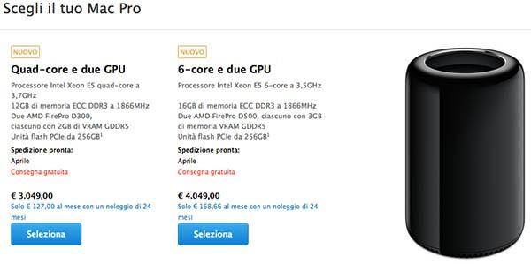 Mac Pro, consegna aprile