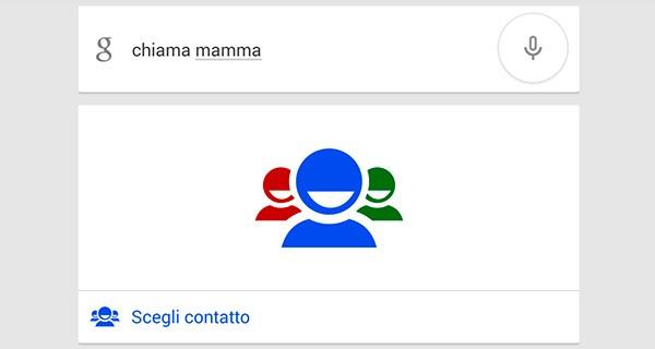 Con l'ultimo aggiornamento dell'applicazione Ricerca Google, l'assistente Google Now riconosce mamma, papà, fratello, sorella, nonno, nonna e altri parenti tra i contatti