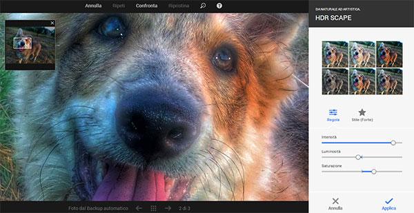 L'editor di immagini integrato in Google+ si arricchisce oggi dell'effetto HDR Scape e della possibilità di effettuare lo zoom