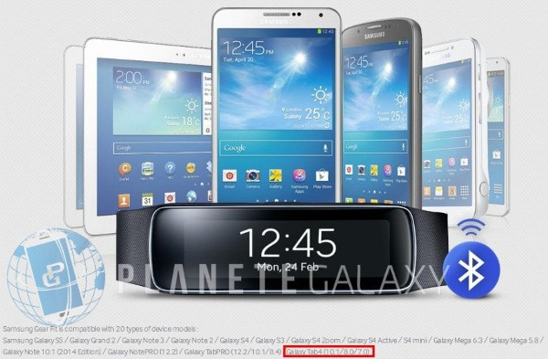 I Samsung Galaxy Tab 4 svelati nell'annuncio del Gear Fit