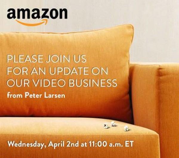 L'invito Amazon per l'evento del 2 aprile