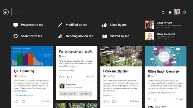 L'interfaccia utente di Oslo.