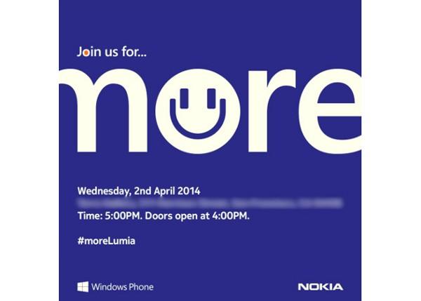 Nokia, la locandina dell'evento in programma per il 2 aprile. Arrivano nuovi Lumia