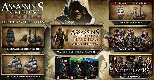 Tutti i contenuti della Jackdaw Edition di Assassin's Creed 4: Black Flag