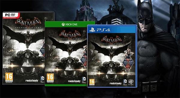 La cover ufficiale di Batman: Arkham Knight