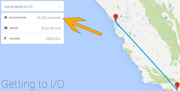 L'easter egg dedicato a Ritorno al Futuro nel sito ufficiale del Google I/O 2014