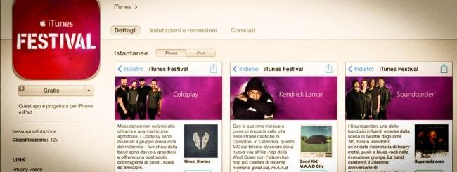 App di iTunes Festival