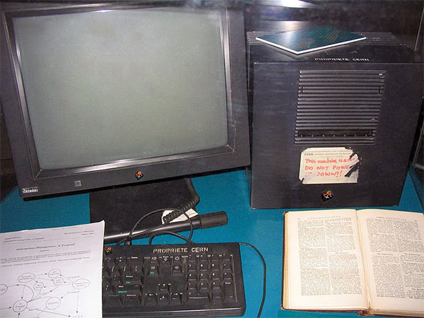 Il primo Web server, utilizzato da The first web server, used by Tim Berners-Lee al CERN di Ginevra