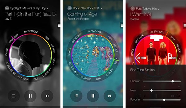 L'interfaccia dell'app Milk Music, per lo streaming musicale sui Samsung Galaxy di fascia alta