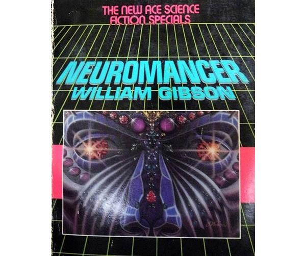 La copertina della prima edizione di Neuromancer (1984), di William Gibson. Il romanzo è considerato il manifesto del genere cyberpunk. È stato il primo romanzo ad aggiudicarsi i tre premi letterari più importanti del settore: il Premio Hugo,  il Nebula e Philip K. Dick Award. In Italia è uscito per la prima volta nel 1986.