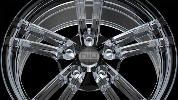 I cerchi in lega di vetro NIU Glass realizzati da Laidelli Wheels