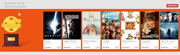 I film in corsa per gli Oscar su Google Play Film