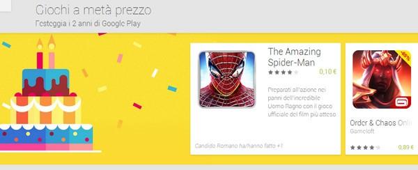 In occasione del secondo compleanno, la piattaforma Google Play festeggia scontando alcuni giochi per Android