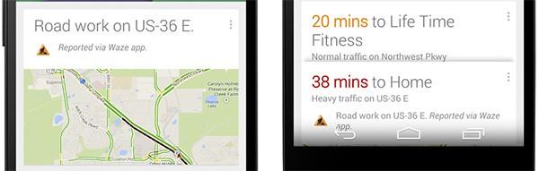 Google Now avvisa gli automobilisti di incidenti o lavori sulla carreggiata