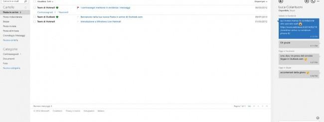 Videochiamate Skype in Outlook.com
