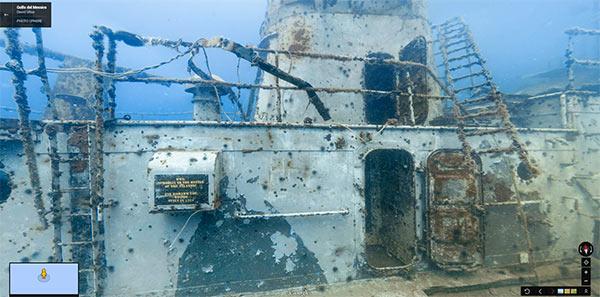 Una sezione del USS Mohawk visitabile su Google Street View