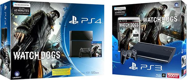 I bundle con PlayStation 3 e PlayStation 4 insieme alla copia fisica di Watch Dogs