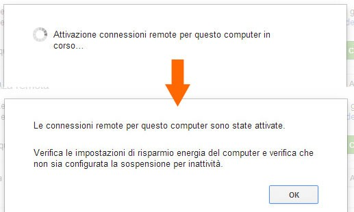 Chrome Remote Desktop: attivazione connessioni remote