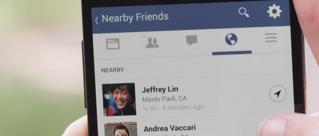 how to search friends nearby on facebook
