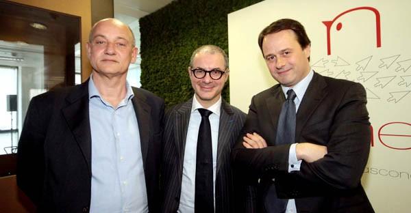 Milano, 1° aprile 2014, presentazione di RCSNEST. Da sinistra: Enrico Gasperini, fondatore e presidente di Digital Magics, Alceo Rapagna, chief digital officer RCS MediaGroup e Pietro Scott Jovane, amministratore delegato RCS MediaGroup (ex Microsoft Italia).