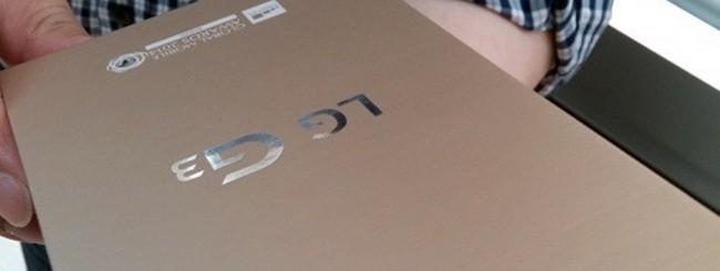 Una foto leaked della scatola di LG G3