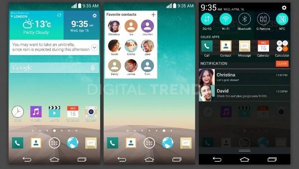 LG G3, trapelata l'interfaccia utente ridisegnata da LG