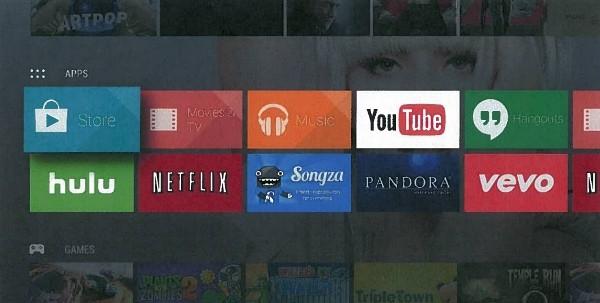 L'interfaccia dell'Android TV trapelata nel documento Google