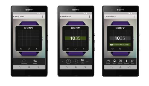 Sony SmartWatch 2, l'editor del quadrante