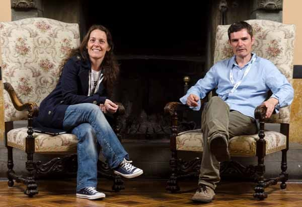 Arianna Ciccone e Chris Potter sono gli organizzatori del Festival del Giornalismo di Perugia