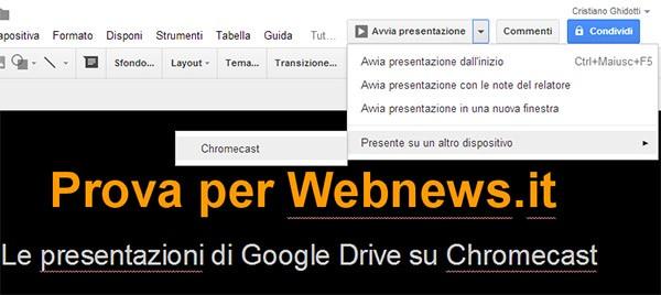 Da oggi è possibile vedere le presentazioni salvate in Google Drive sul televisore, grazie a Chromecast