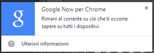 L'assistente virtuale Google Now integrato in Chrome