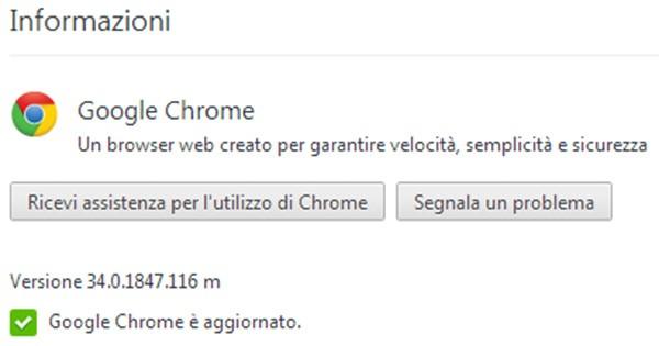 L'aggiornamento a Chrome 34 è già disponibile per il download